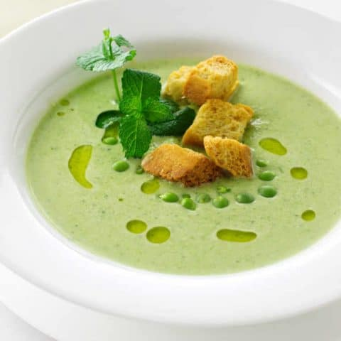 Fresh Green Pea soup with Mint