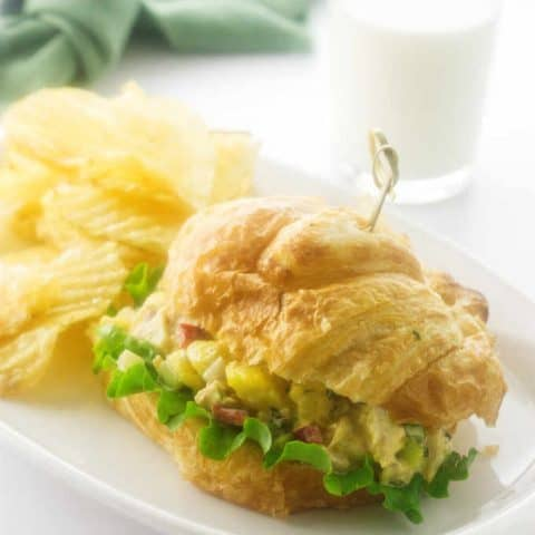 Pineapple Chicken Curry Sandwich