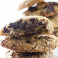 Coconut Chocolate-Chunk Tahini Cookies