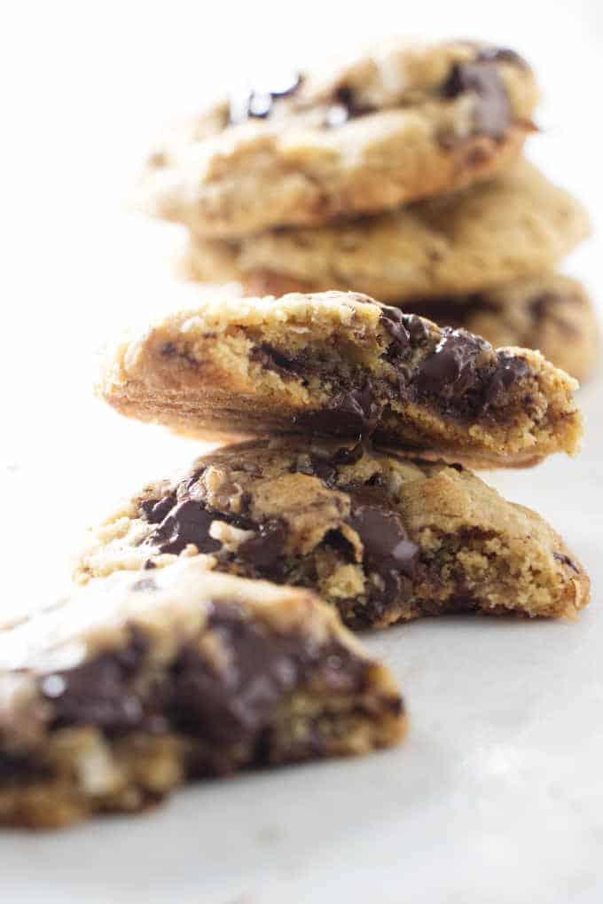 3 stacks of tahini cookies