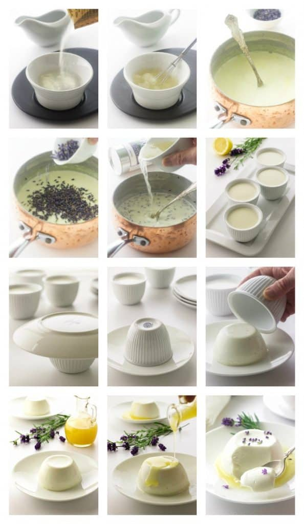 College of processing photos for lavender panna cotta with lemon syrup