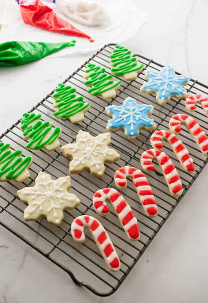 Christmas cutout cookies are perfect sugar cookies