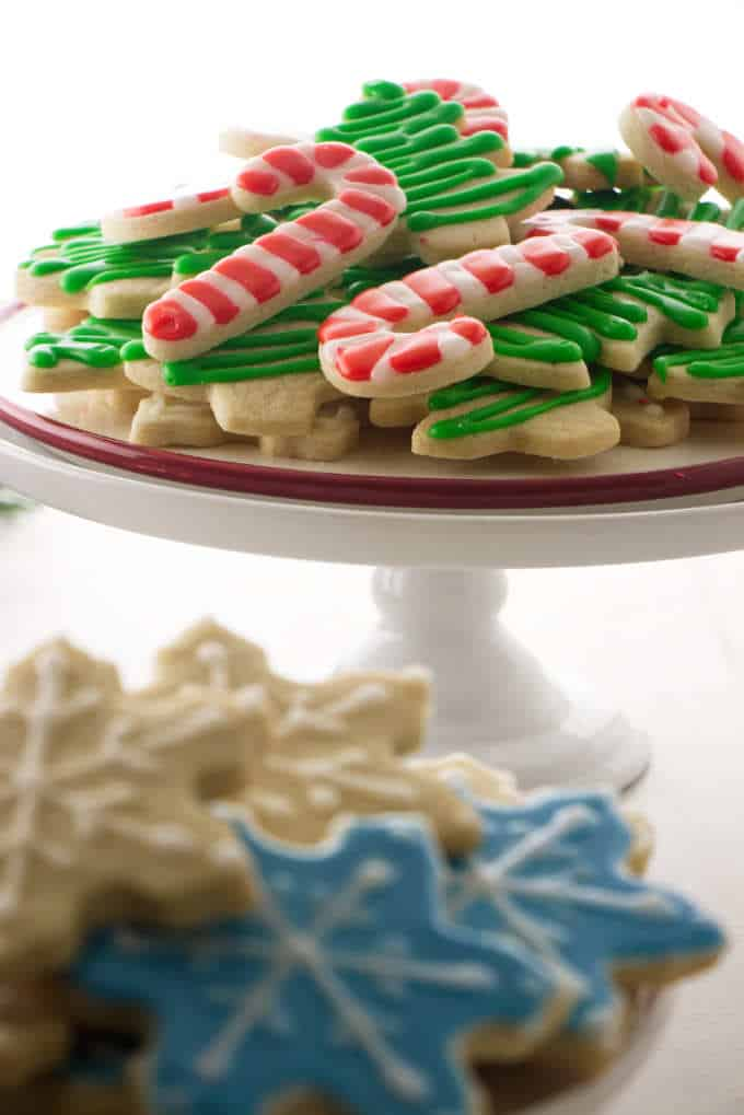 perfect sugar cookies decorated and displayed on a platter