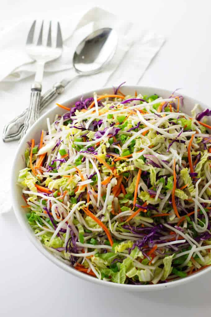 Bowl of Kimchee Slaw