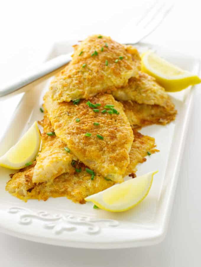 Overhead view of Parmesan Crusted Sole