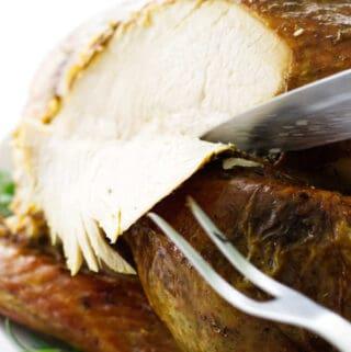 Slicing the turkey