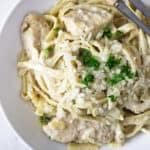 Creamy Garlic Butter Chicken Pasta