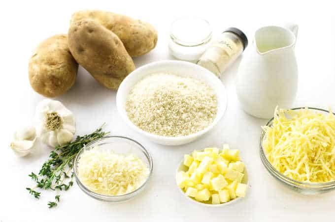 Ingredients for Potatoes Au Gratin
