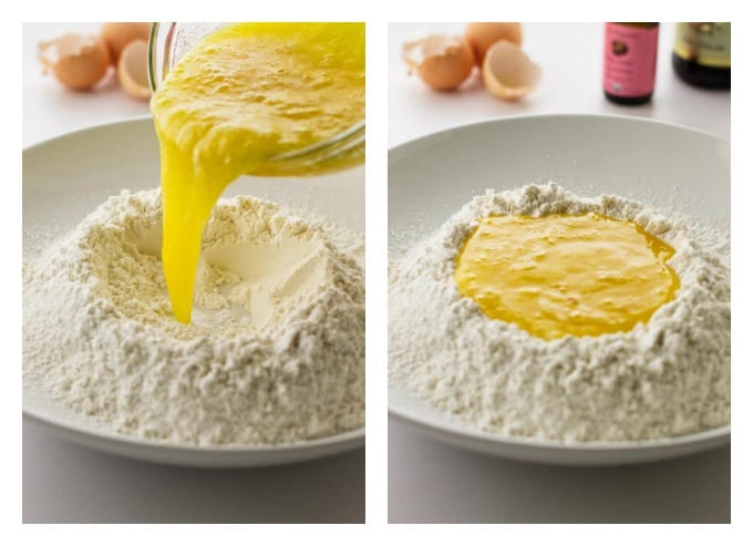 process photos showing how to make almond biscotti