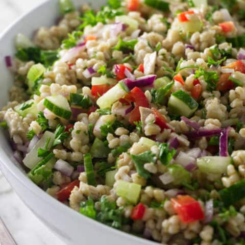 Roasted Chicken and Barley Salad