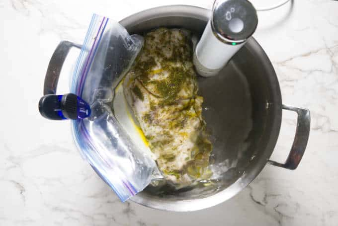 cooking a wild turkey breast in a sous vide cooker