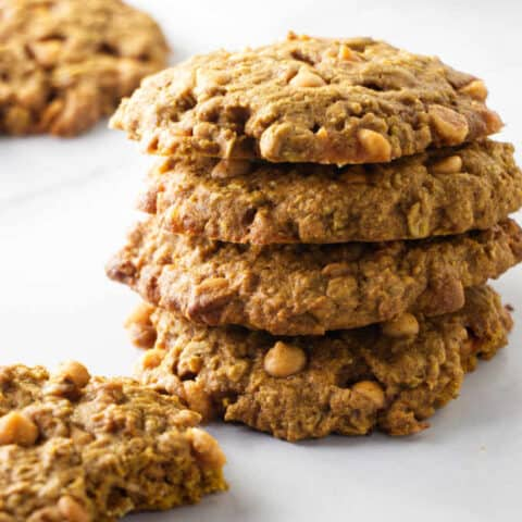 Butterscotch Pumpkin Oatmeal Cookies