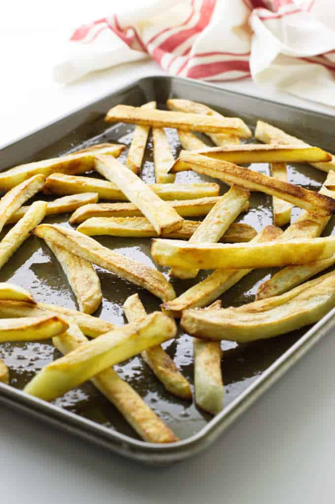 Baked oven fried potatoes