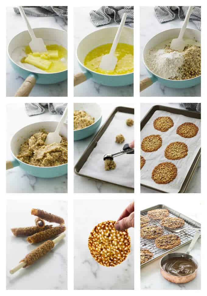 Processing photos to make florentine cookies