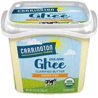 Carrington Farms USDA Organic Grass Fed Ghee, Clarified Butter, Lactose Free, Casein Free, Gluten Free, Non Hydrogenated, 0g Trans Fat, BPA Free, 12 Ounce