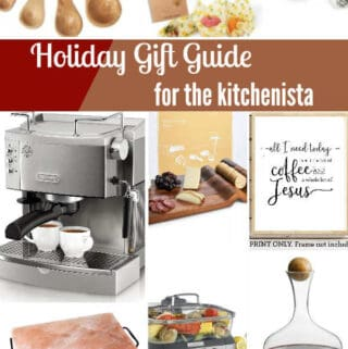 Collage of photos with gift ideas
