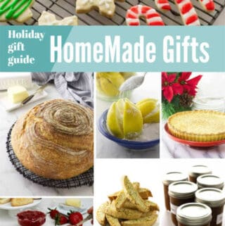 collage of photos with homemade gift ideas
