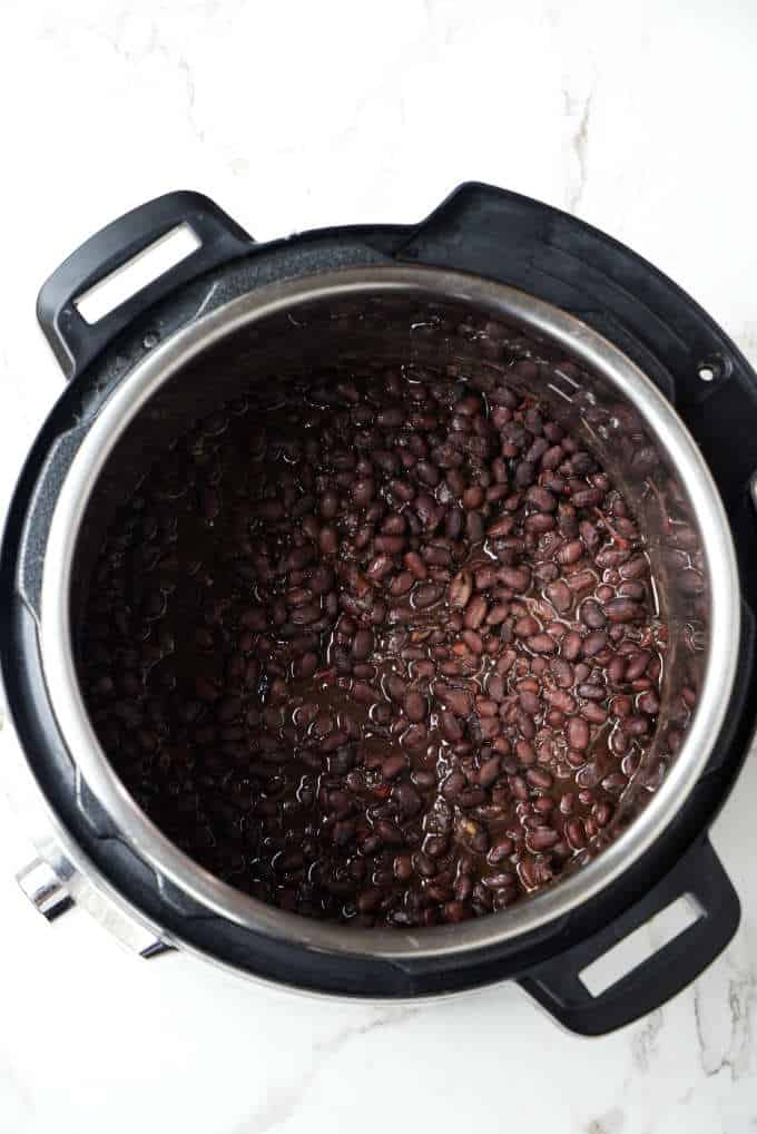 Black beans in an instant pot.