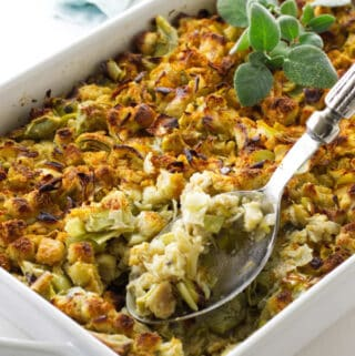 casserole of low calorie stuffing mix