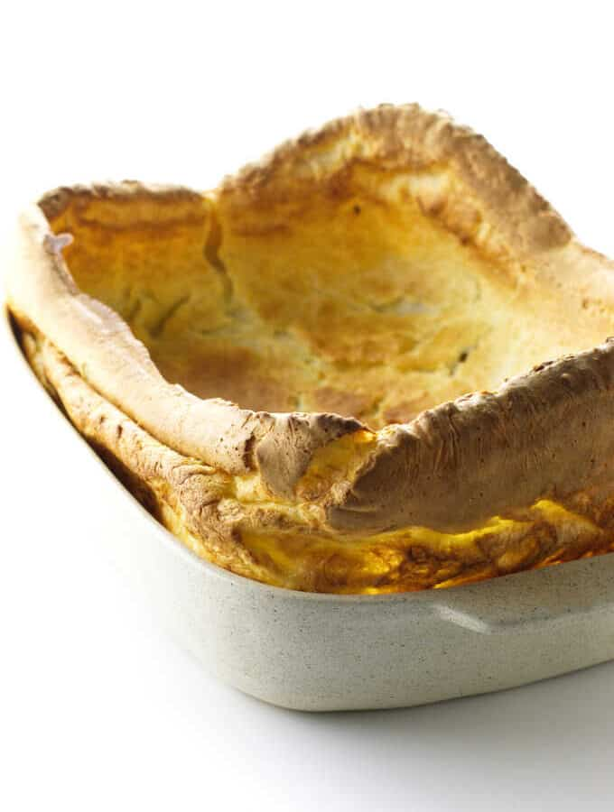 Yorkshire Pudding in a baking dish