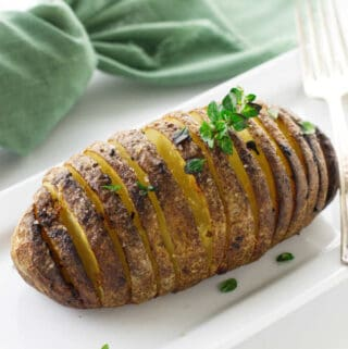 One large prepared hasselback