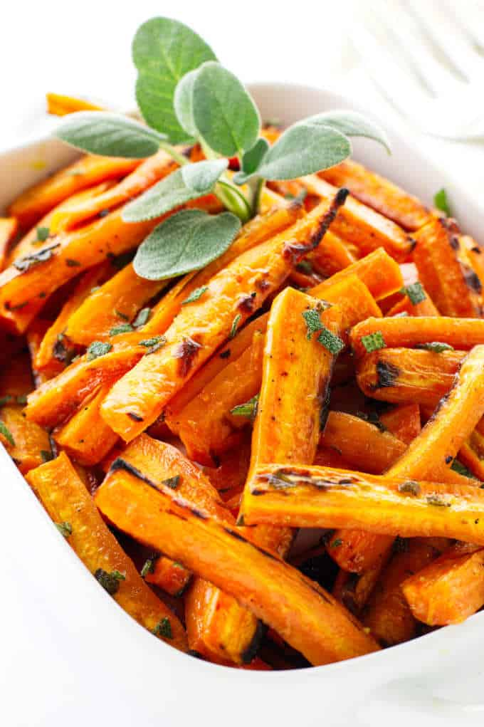 honey roasted carrots with sage