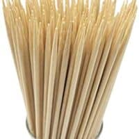 """6"""" Natural Bamboo Skewers for BBQ,Appetiser,Fruit,Cocktail,Kabob,Chocolate Fountain,Grilling,Barbecue,Kitchen,Crafting and Party. Φ=4mm, More Size Choices 8""""/10""""/12""""/14""""/16""""(100 PCS)"""