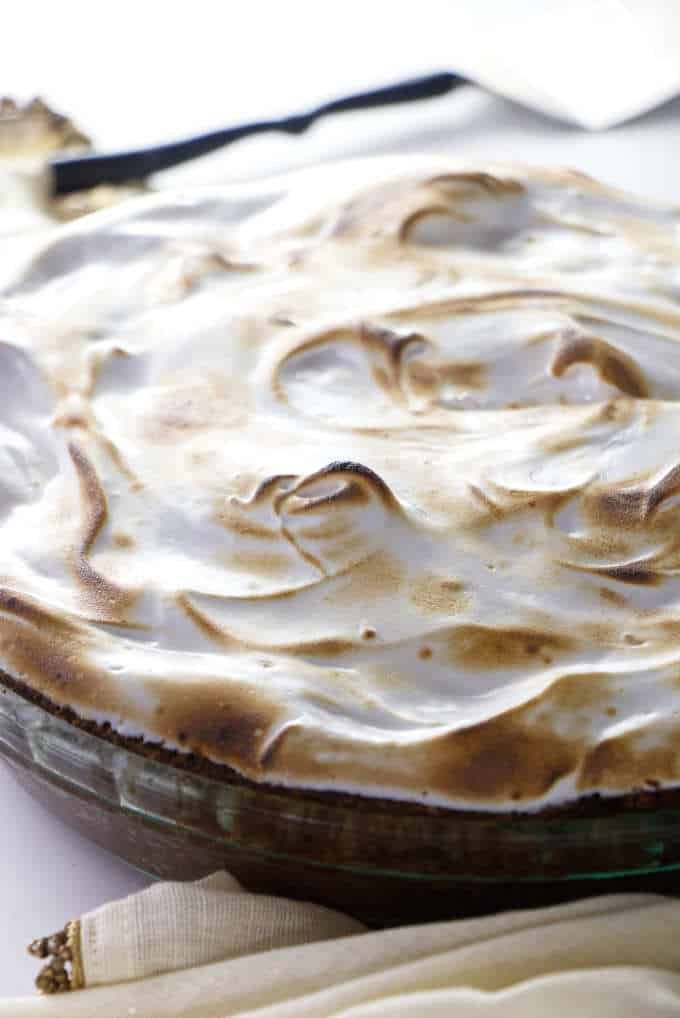 A Southern sweet potato pie swirled with toasted marshmallow fluff.