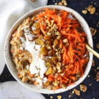 Healthy Carrot Cake Breakfast Bowl