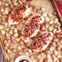 Sheet Pan Chicken and Potatoes with Rosemary, Sun-Dried Tomatoes and Honey-Balsamic