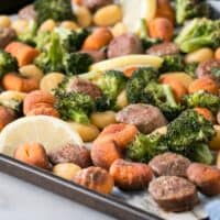 Sheet Pan Gnocchi with Sausage and Broccoli