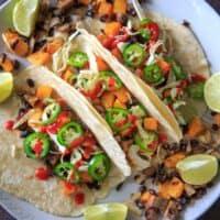 Sheet Pan Squash and Mushroom Tacos