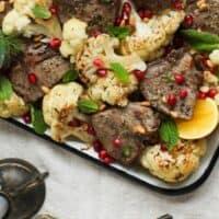 Sheet Pan Zesty Lamb Chops and Cauliflower