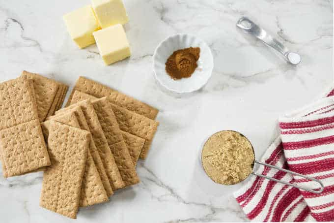 Ingredients for graham cracker crust.