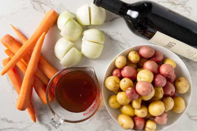 Ingredients for Instant Pot tri tip.