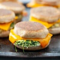 Make Ahead Freezer Veggie Breakfast Sandwiches