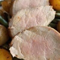 Maple Balsamic Pork Tenderloin Sheet Pan Dinner