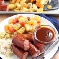 Smoked Sausage, Potatoes & Veggies Sheet Pan Dinner