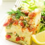 Salmon Asparagus Strata