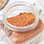 Barbeque seasoning blend in a jar