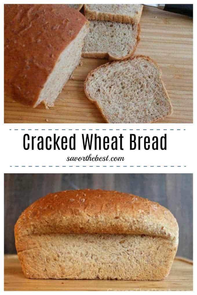 cracked wheat bread pinterest image.