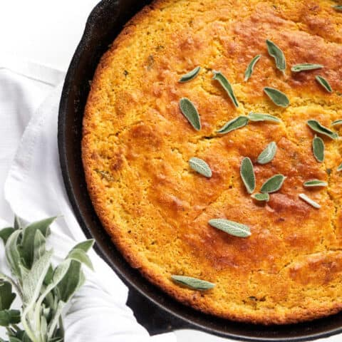 Sage Brown Butter Skillet Cornbread