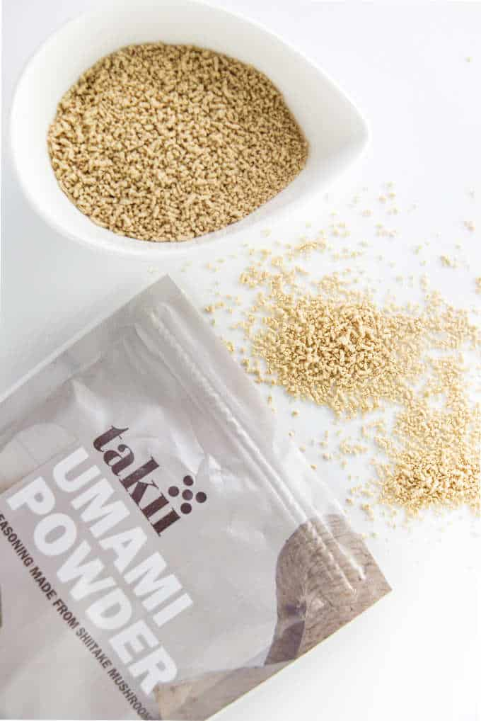 A photo of umami powder that is used in onion soup mix.
