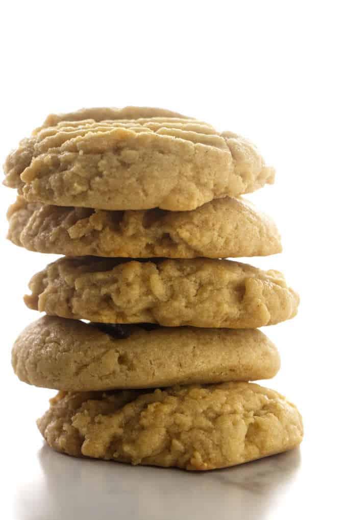 A stack of tahini cookies.