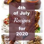 collage of photos for 4th of July recipes