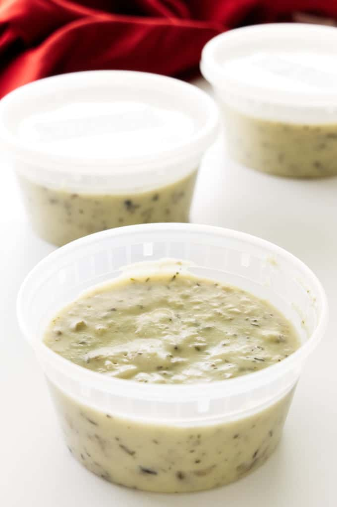 Three containers, 10.5 oz. each of condensed cream of mushroom soup