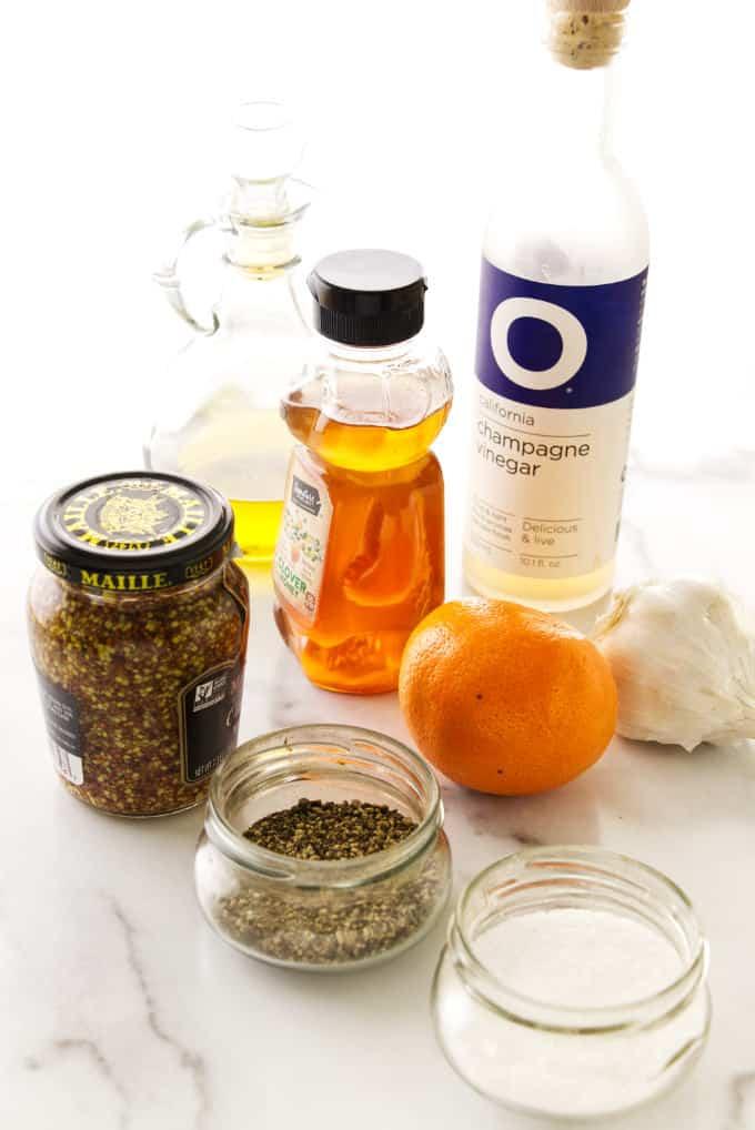 Ingredients for Creamy Orange Champagne Salad Dressing