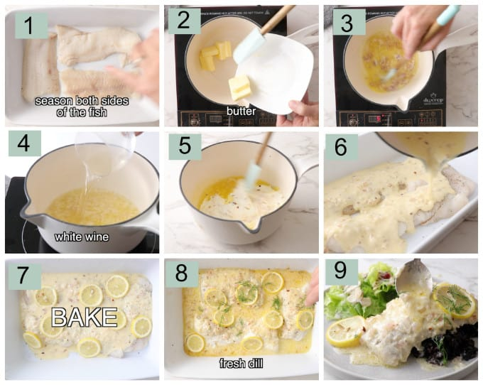 process photos for how to cook wolffish.