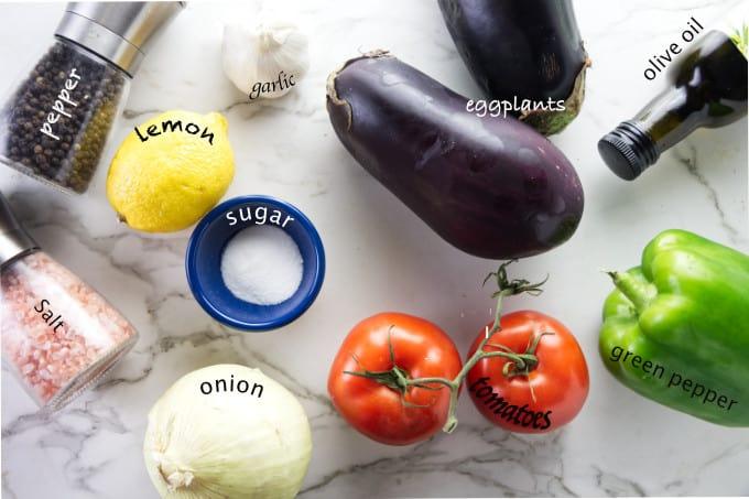 ingredients needed for eggplant caviar
