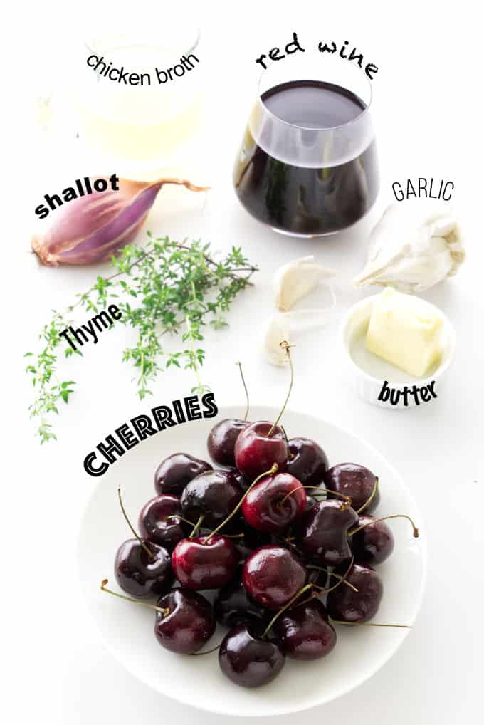 ingredients needed for red wine cherry sauce